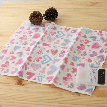 日本廚房巾 : 甜蜜廚房 愛心 30*40 cm (奈良蚊帳生地 -- taoru 日本毛巾)