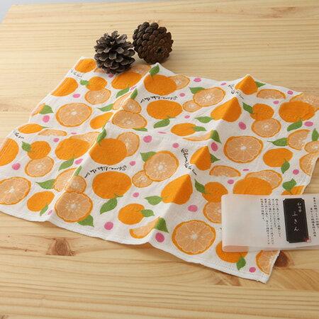 日本廚房巾 : 甜蜜廚房 橘子 30*40 cm (奈良蚊帳生地 -- taoru 日本毛巾)