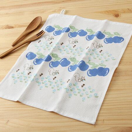 【taoru】美味的想念|蘋果 - 日本廚房巾 34x38 cm - 可愛的水果圖案為您的廚房帶來新氣象!