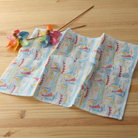 【taoru】奈良蚊帳生地|風帆-日本毛巾34x40cm(廚房巾)–嗚喂~風兒呀吹動我的船帆