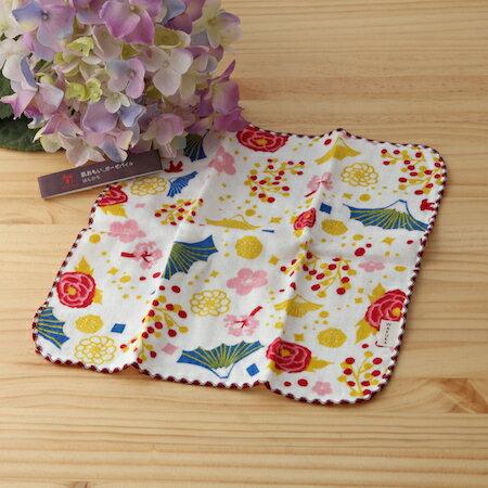 【taoru】肌想 富士美代子 - 日本毛巾 24x24cm (仕女手巾、紗布毛巾) –花朵在富士山綻開,為富士山穿上最美的衣裳。