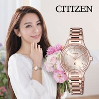 CITIZEN 星辰 EC1164-53Y 限量HEBE配戴廣告款光動能電波錶 XC系列 玫瑰金 28mm-清水鐘錶-流行女裝