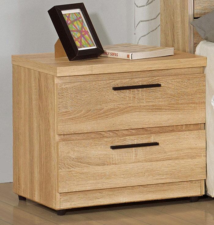 【尚品家具】 JF-053-2 凱文橡木紋床頭櫃