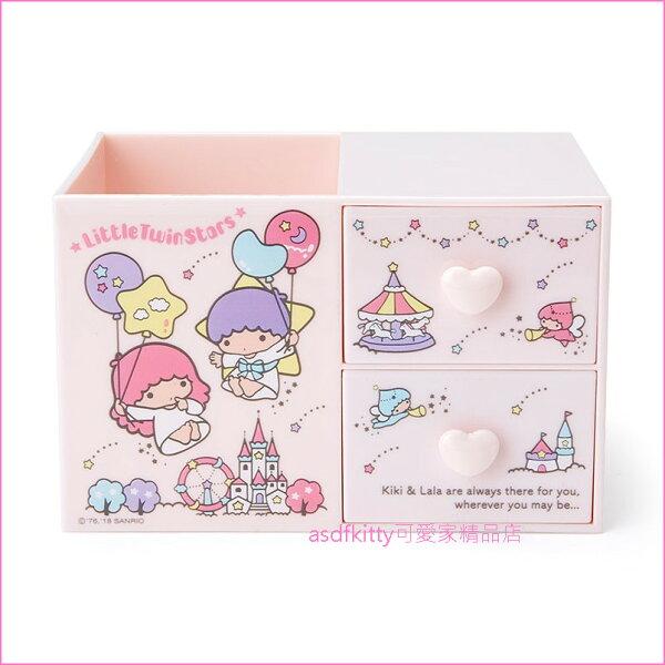 asdfkitty可愛家☆雙子星城堡筆筒+桌上型收納抽屜置物盒-日本正版商品