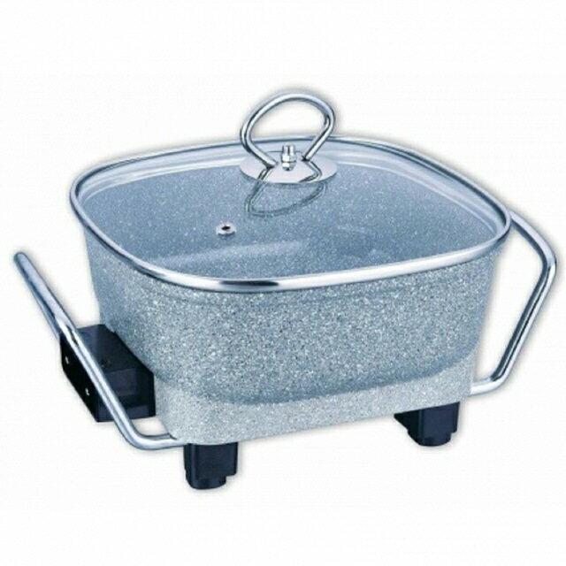 附蒸盤【Delan德朗】岩燒美食鍋 DEL-5818(岩燒鍋)