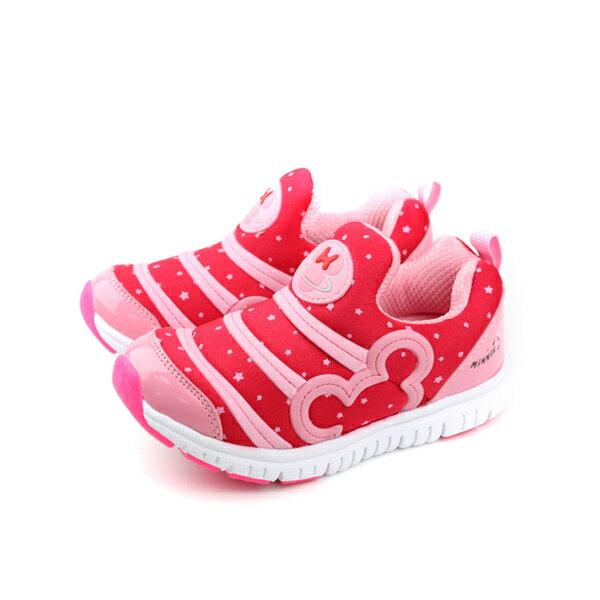 迪士尼 Disney 米妮 毛毛蟲鞋 紅色 中童 no849