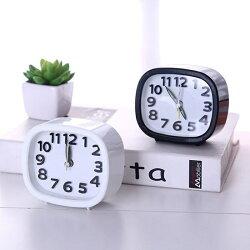 [Hare.D] 時尚個性懶人鬧鐘 超人氣鬧鈴時鐘 立體數字 橢圓形床頭時鐘
