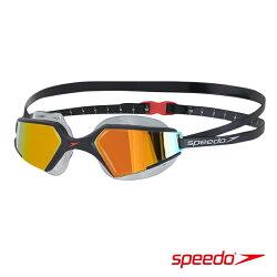 ║speedo║成人進階泳鏡Aquapulse Max 2鏡面-黑橘