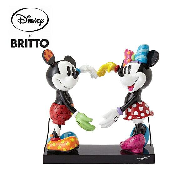 【正版授權】米奇米妮愛心造型Britto塑像公仔精品雕塑米老鼠迪士尼DisneyEnesco-888516