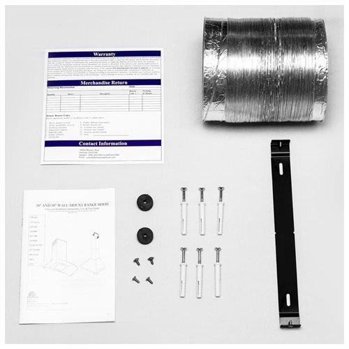 "30"" Stainless Steel Wall Mount Range Hood Touch Screen Control Light Aluminum Mesh Filter 3"
