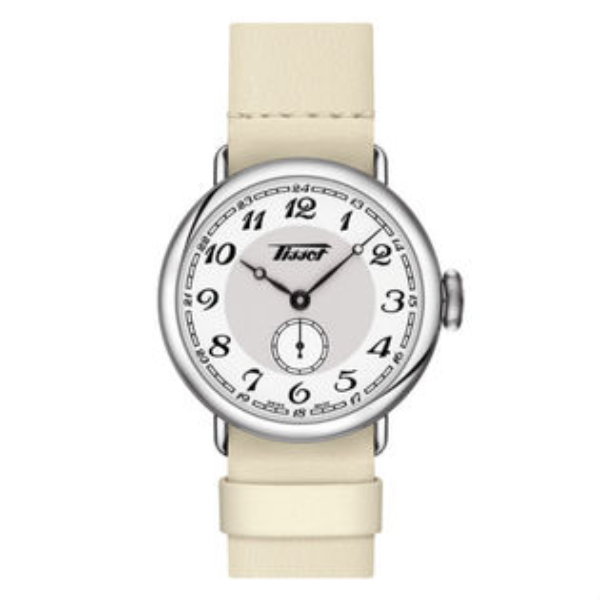 TISSOT天梭表T1042281601200復刻軍用典雅機械腕錶白面36mm