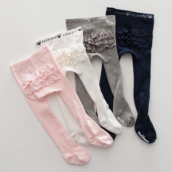 ins 蛋糕裙 褲襪 毛襪 長襪 襪 公主 洋裝 包屁衣 百搭 可愛 蕾絲 白粉灰深藍 ANNA S.