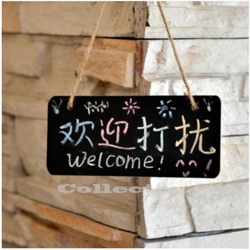 【L17030901】可掛式小黑板 附麻繩 店鋪標記板 創意掛門牌 手寫黑板 情調黑板