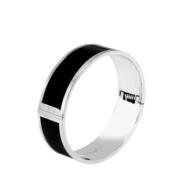 LVGLegendVogue純色黑掐絲琺瑯系列純色手環(銀)-01500159001