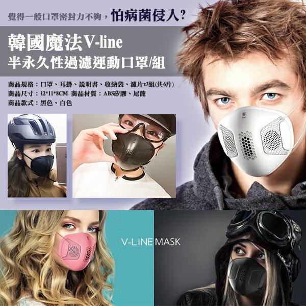 韓國魔法V-line 半永久性過濾運動口罩/組