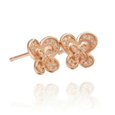 ~925純銀耳環鑲鑽耳飾~高貴大方典雅 情人節 女飾品2色73dm101~ ~~米蘭 ~