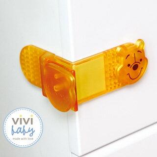 台灣【ViviBaby】迪士尼小熊維尼抽屜鎖-2入(黃)