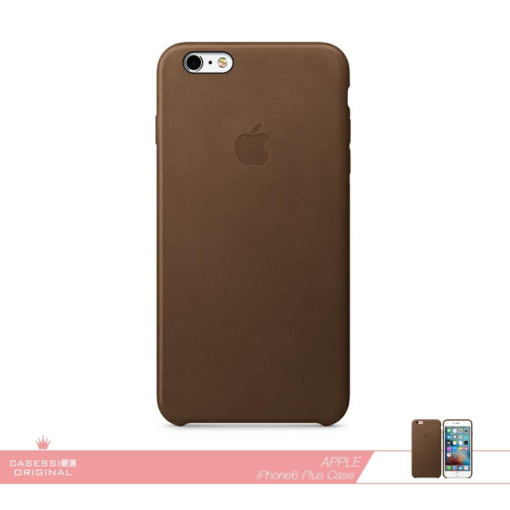 APPLE蘋果 原廠iPhone 6 Plus/ 6S Plus 專用 皮革護套-棕色 /手機保護殼 /防護背蓋 /防震硬殼保護套