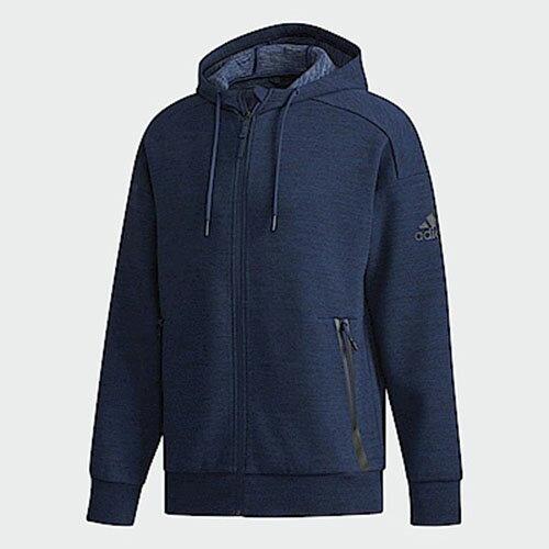 運動世界:ADIDASID男裝外套連帽休閒訓練健身舒適深藍【運動世界】DM7576【單筆消費滿1000元全會員結帳輸入序號『CNY100』↘折100