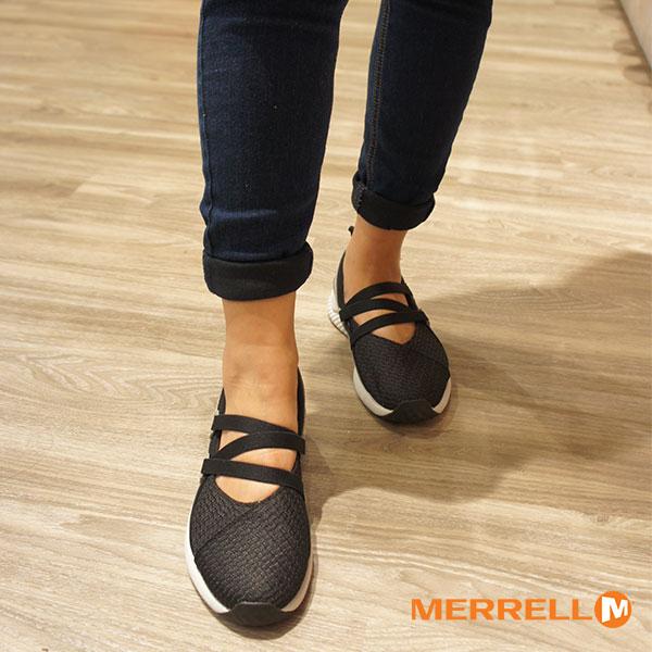 【MERRELL促銷8折│全店免運】MERRELL1SIX8MJAC+輕量透氣休閒娃娃鞋女鞋百搭黑-ML45588