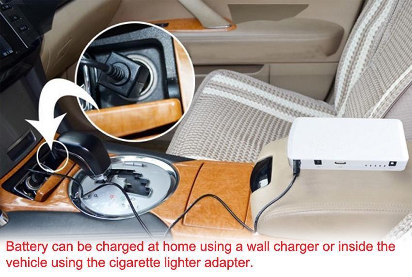 15000mAh Jump Starter Car Battery Charger Mini Power Bank LED Light 12V White 5