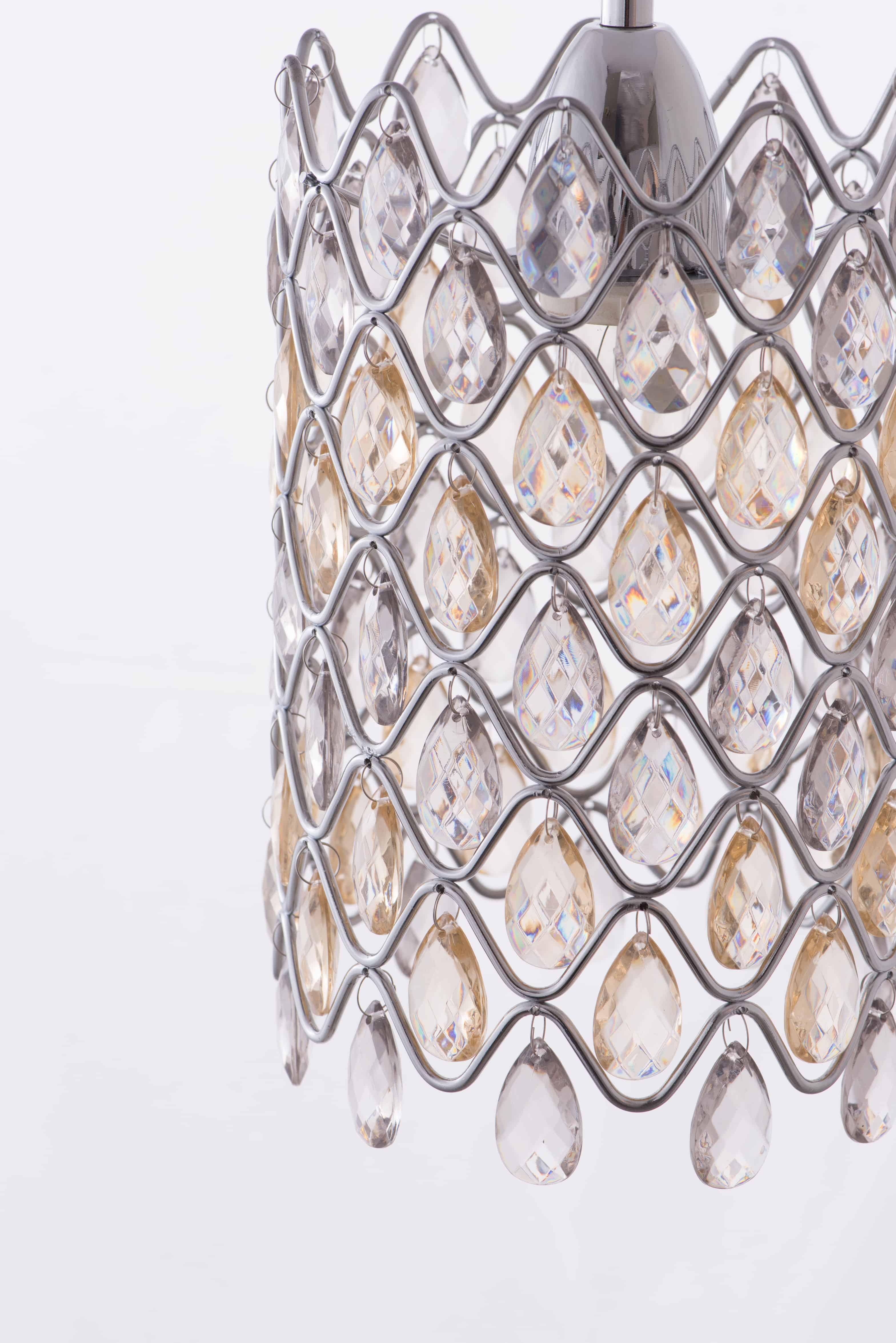 鍍鉻波浪紋壓克力珠吊燈-BNL00051 4