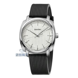 【錶飾精品】CK手錶 Highline平行系列 金宇彬代言 銀框銀白面橡膠錶帶 男錶 K5M311D6 全新原廠正品 生日情人禮物