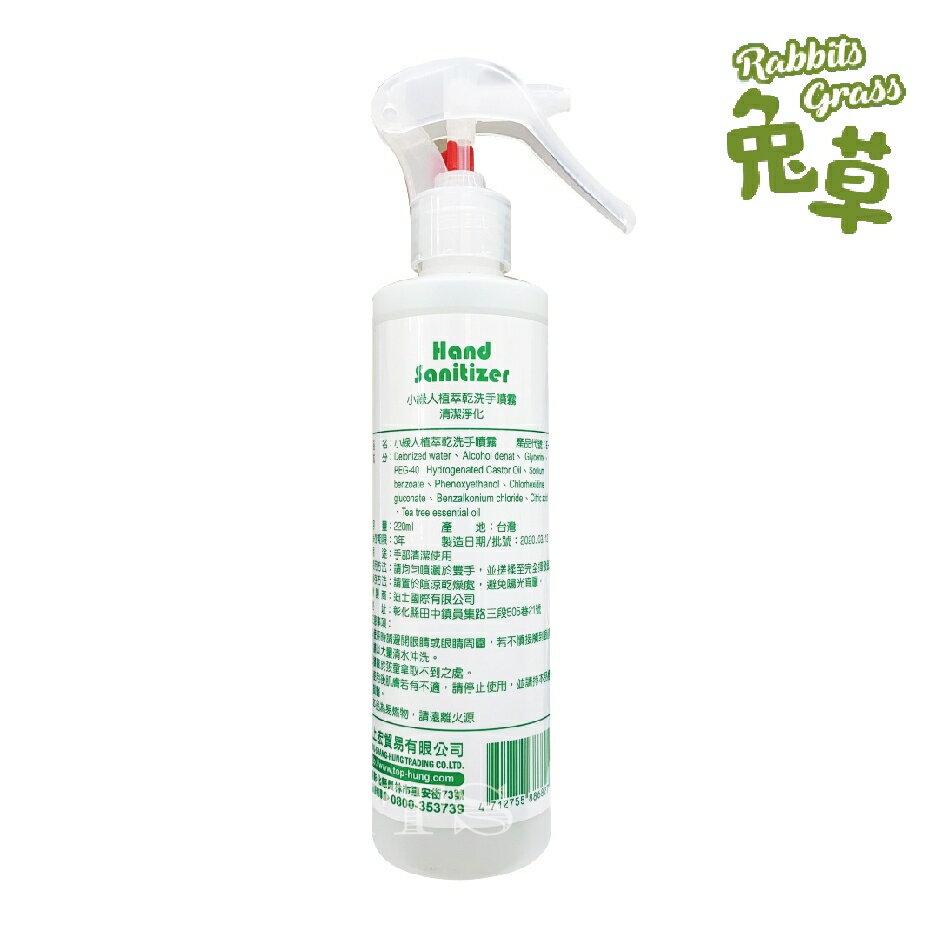 停產 小綠人 抗菌植萃乾洗手噴霧220ml