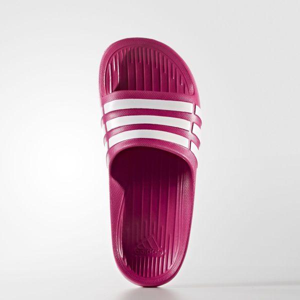 ADIDAS DURAMO SLIDE 女鞋 大童 拖鞋 一體成形 防水 桃紅 【運動世界】 G06797