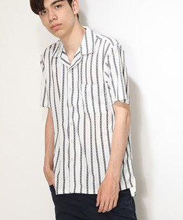 短袖開領襯衫CHIROLISTRIPE