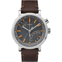 Timex Metropolitan+ - Analog Activity Tracker Watch Leather Grey Dial TW2P92300