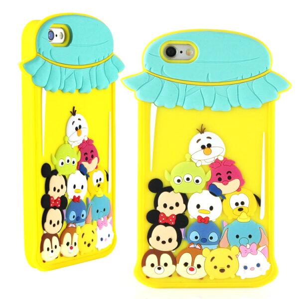 【Disney】iPhone6Plus6sPlusTSUMTSUM可愛2D立體保護套-糖果罐