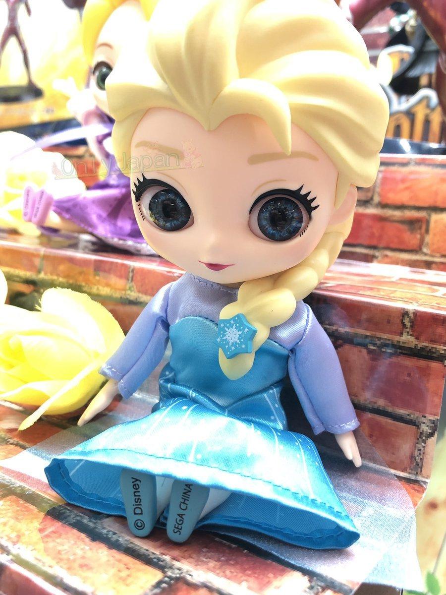 4179585314423 日本景品CUICUI人形擺飾-艾莎 冰雪奇緣 迪士尼  關節 可動 娃娃 公仔 日版 景品 SEGA 迪士尼 Cuicui 真愛日本