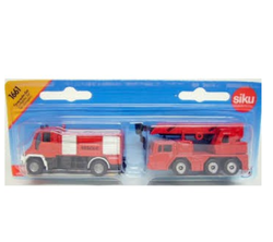 (卡司 正版現貨) 德國小汽車 SIKU 消防車 2入 SU1661 兒童禮物 模型車 玩具車