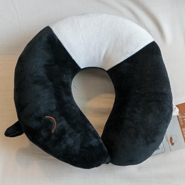 日雜風格 馬來貘頸枕 花色獨特 觸感扎實