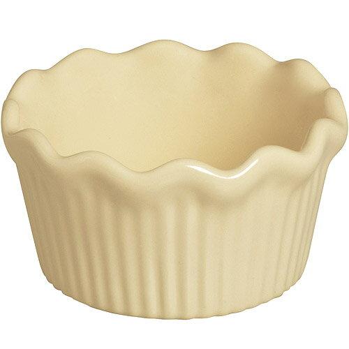 《EXCELSA》Chic陶製荷葉邊布丁烤杯(淺奶油9cm)