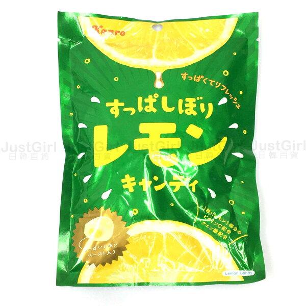 甘樂KANRO檸檬夾心糖檸檬糖果20顆食品日本製造進口JustGirl