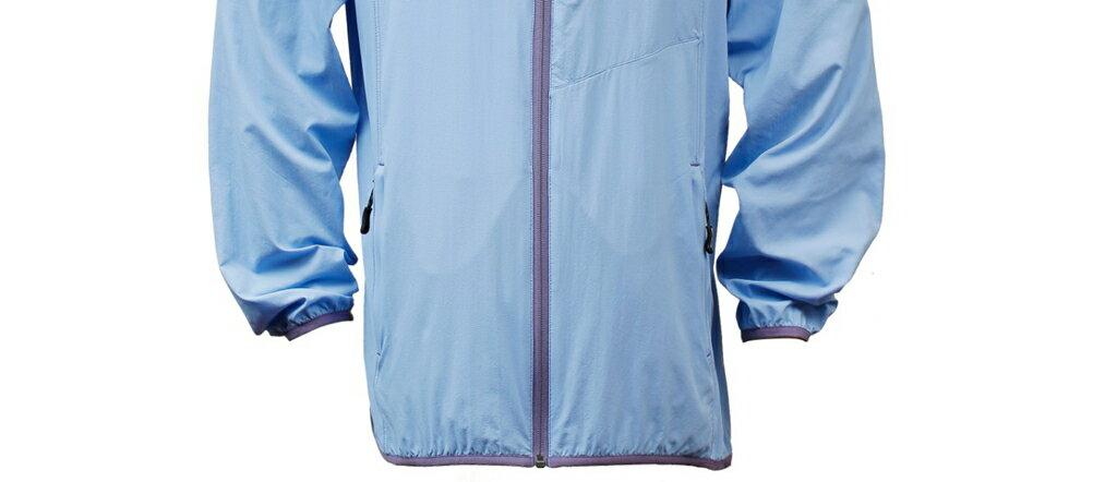 男抗UV單層風衣 - 煙藍 3450 2