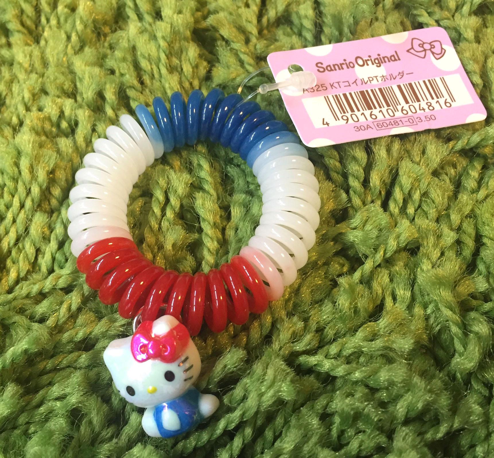 【真愛日本】160724000063色彈簧髮束-KT珠光藍衣  三麗鷗 Hello Kitty 凱蒂貓     髮束  飾品  美髮用品