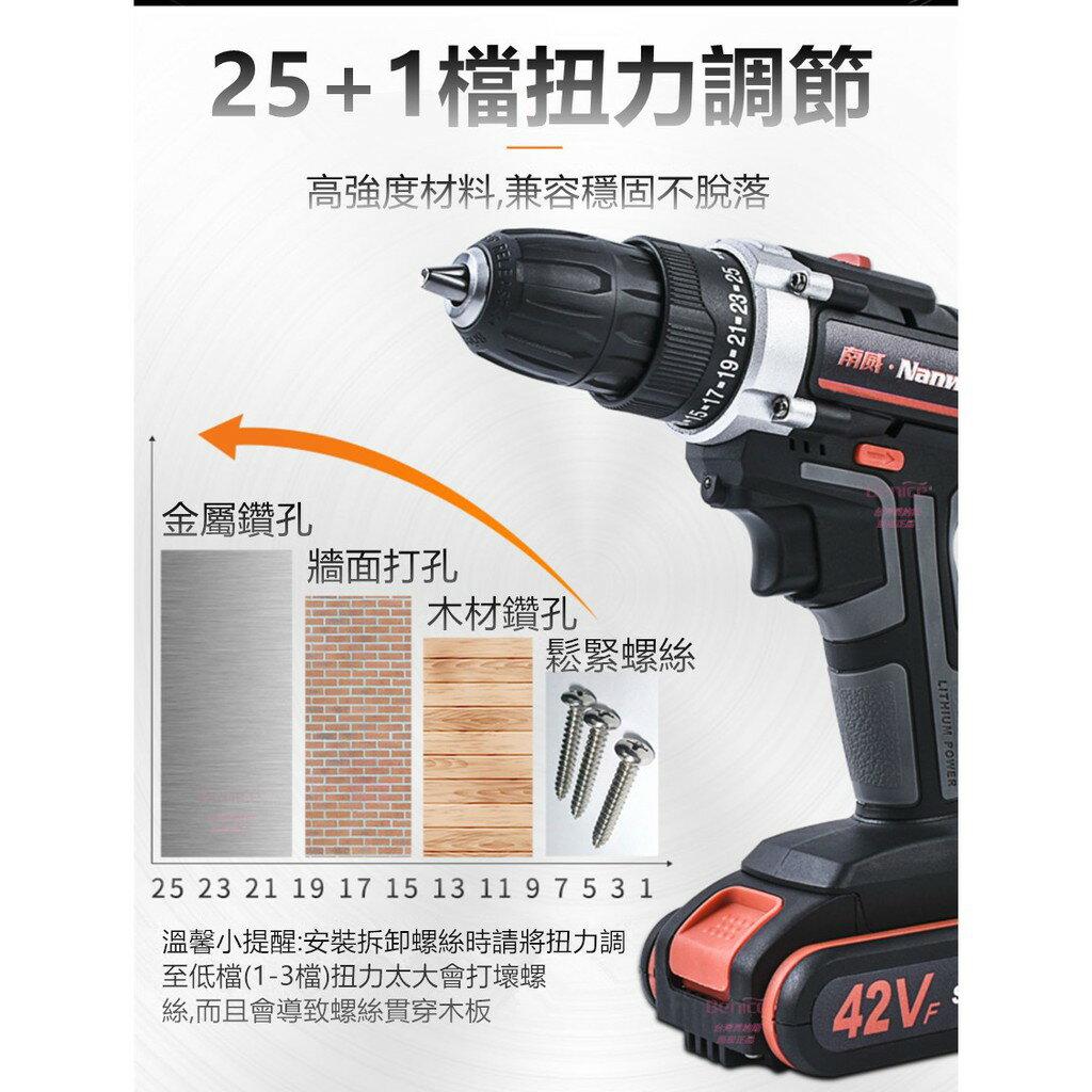 42VF 衝擊電鑽 1電 1充 送38件 工具 充電 電鑽 電動工具 CP勝 牧田 Bosch 日立 米沃奇 父親節