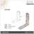 【 EASYCAN  】D16 1包10片 易利裝生活五金 不鏽鋼 角碼 角鐵 轉角片 補強 房間 臥房 客廳 餐廳 櫥櫃 衣櫃 小資族 辦公家具 系統家具 1