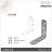 【 EASYCAN  】D16 1包10片 易利裝生活五金 不鏽鋼 角碼 角鐵 轉角片 補強 房間 臥房 客廳 餐廳 櫥櫃 衣櫃 小資族 辦公家具 系統家具 2