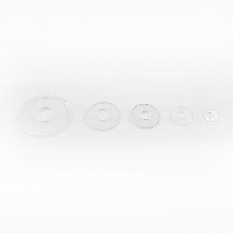 【 EASYCAN  】B16 玻璃透明墊片 1包50片 易利裝生活五金 浴室 廚房 房間 臥房 衣櫃 小資族 辦公家具 系統家具 - 限時優惠好康折扣