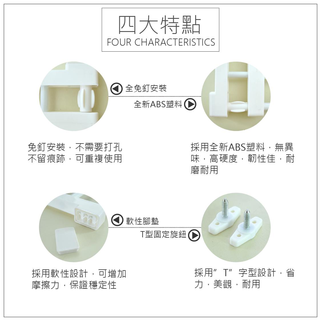 EC002 多功能伸縮隔板 易利裝生活五金 衣櫃 小資族 置物架 收納架 層板架 2