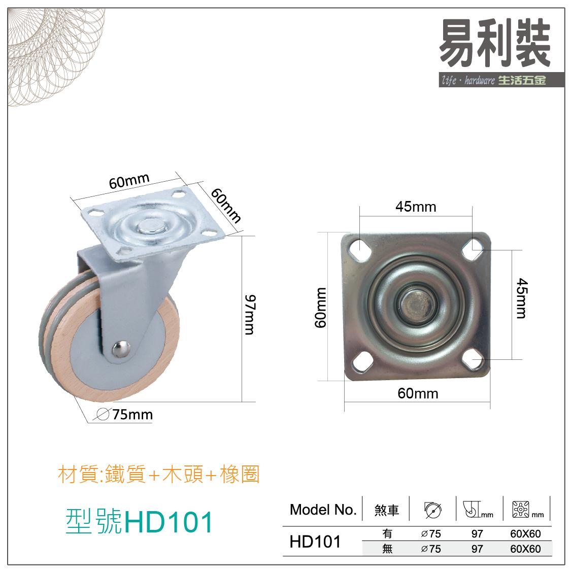 【 EASYCAN  】HD101 活動輪 易利裝生活五金 桌輪 櫃輪 房間 臥房 衣櫃 小資族 辦公家具 系統家具 1