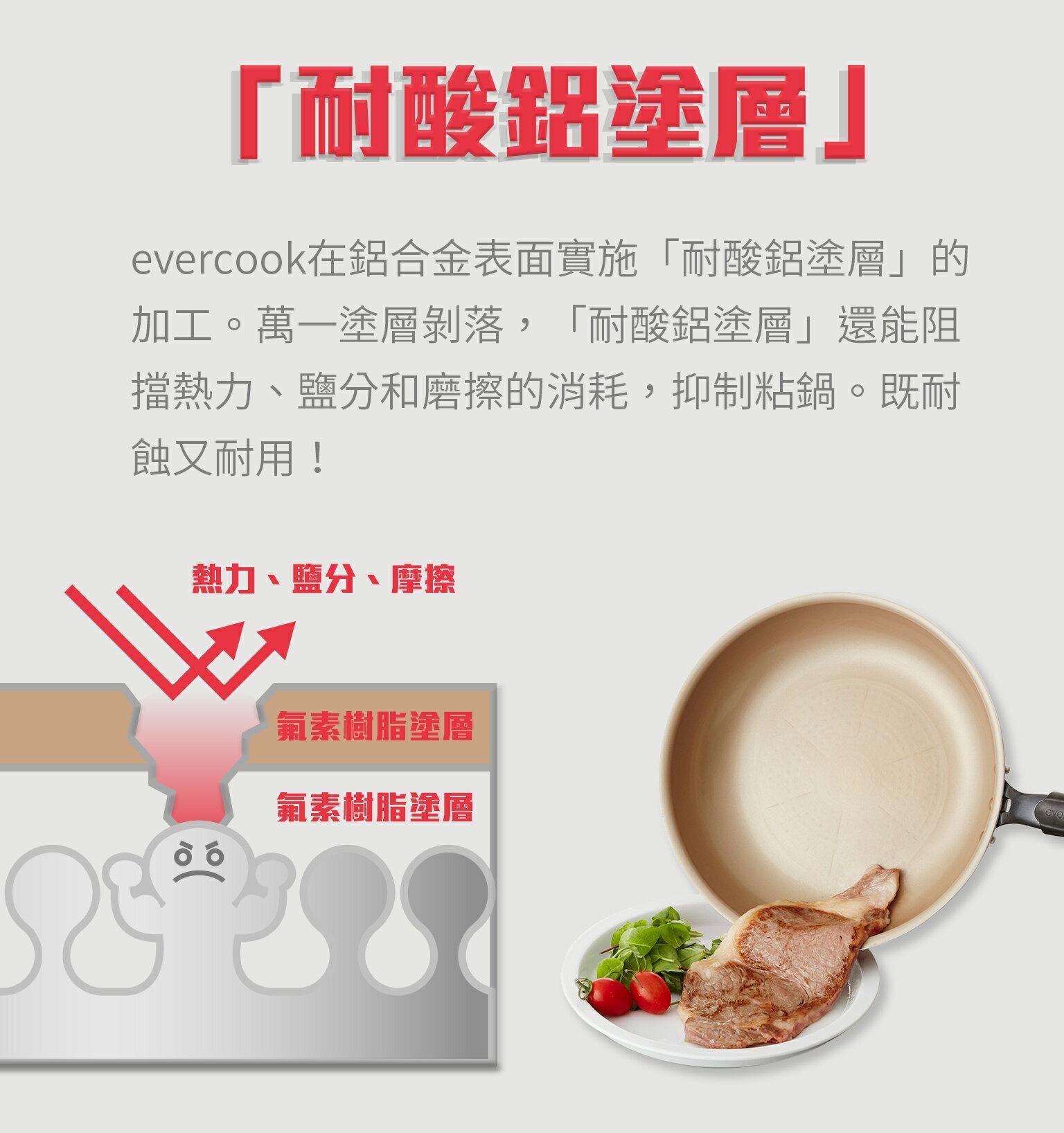 【日本Doshisha evercook】三件組-炒鍋 26cm+炒鍋 28cm+玉子燒-15*18cm 5