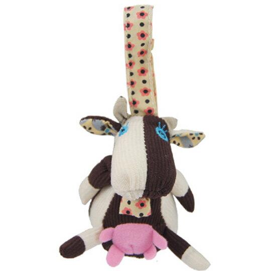 【全新品3折出清】法國【 DEGLINGOS】布偶吊飾 - 牛