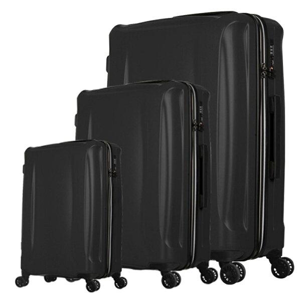 日本LEGENDWALKER5201PP三合一超輕量行李箱耀岩黑