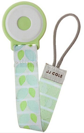 【淘氣寶寶】JJ COLE Pacifier Clip 奶嘴鍊 (forest-m) 綠葉子【保證原廠公司貨】