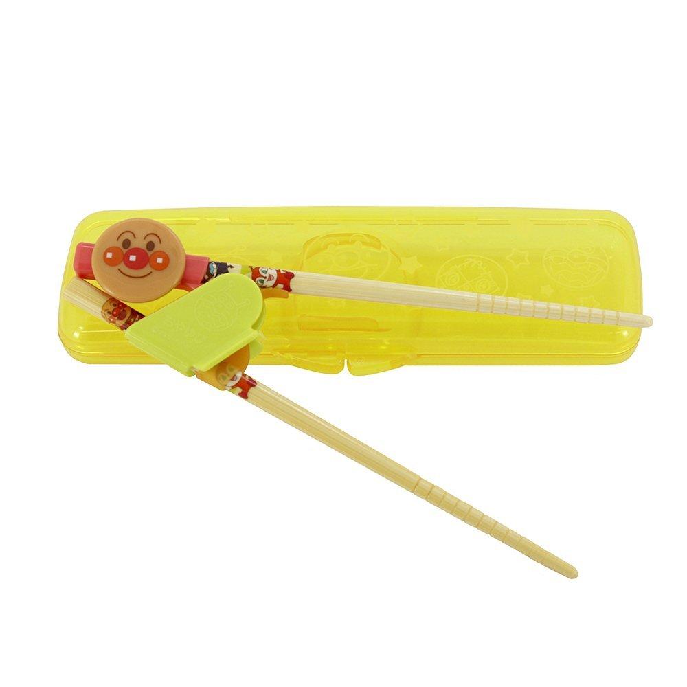 日本 ANPANMAN 麵包超人 幼兒學習筷 竹筷 附收納盒 2-4歲左手用 *夏日微風*